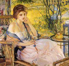 Reverie, 1916, by Richard Emil Miller (1875-1943) American Impressionist Painter