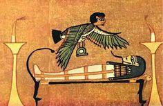 Ba bird, Papyrus of Ani, XIXth Dynasty, Thebes, circa 1250 BCE. British Museum Papyrus