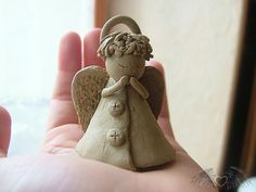 ceramic angel by Bielek.deviantart.com on @DeviantArt