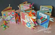 paperbag books, mixed media, Albums, Childrens crafting, Mini Albums, Scrapbooking, Young People