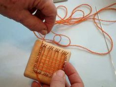 Multi loom square So small you can keep weaving on the way to work... to shopping... to anywhere...