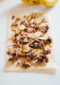 This chunky monkey treat is a good source of protein, fiber and healthy fats.