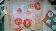 Creating a mixed media journal page. More on my blog: http://francesca-burras.blogspot.co.uk/