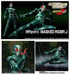 Premium Bandai KAMEN RIDER S.H.Figuarts Masked Rider J Action Figure #BANDAI
