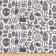 Cloud 9 Organic Kindred Fable Gray Fabric