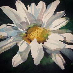 "Watercolors: Going dark, 5""x 5"" study by Annelein Beukenkamp"
