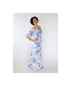 8f02372bfdabbf Vintage 70s/1970s gauze maxi dress Hippie Boho Festival Summer Floral Wide  sleeve Empire waist