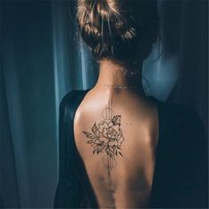 Cool And Amazing Back Tattoo Designs You Want To Show Off In Summer; Back Tattoos; Tattoos On The Back; Back tattoos of a woman; Little prince tattoos; Girl Back Tattoos, Tattoo Girls, Flower Tattoos On Back, Tattoo On Back, Small Back Tattoos, Flower Tattoo Women, Meaningful Flower Tattoos, Feminine Back Tattoos, Simple Neck Tattoos