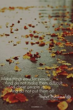 make things easy for people