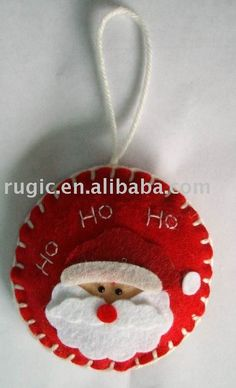 Christmas felt crafts | art craft non woven felt Christmas hanger decoration ornament gifts ...
