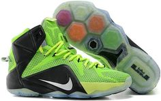 723b454d48d Find Nike LeBron 12 Neon Green Black-Silver For Sale Christmas Deals online  or in Footlocker. Shop Top Brands and the latest styles Nike LeBron 12 Neon  ...