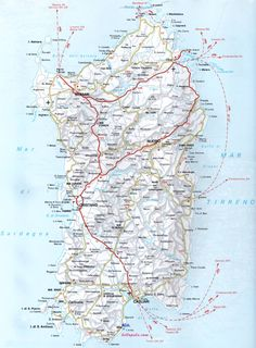 Cerdeña (Italia): distancias por carretera (kilometros/tiempo de conducción) - Foro de Italia - LosViajeros Sardinia, Map, Activities, Abstract, World, Artwork, Travel, Sardinia Italy, Italy Travel