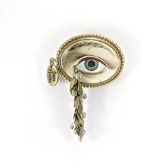 Dame Pivoine - Broche-Trompe l'œil LacryMâle