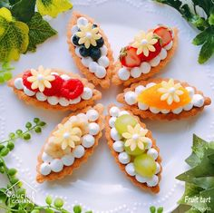 The video consists of 23 Christmas craft ideas. Tart Recipes, Sweet Recipes, Dessert Recipes, Cupcakes, Cupcake Cakes, Cute Food, Yummy Food, Beautiful Desserts, Fancy Desserts