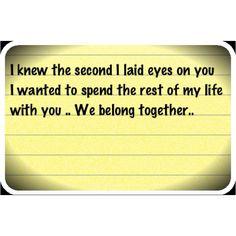 We belong together...