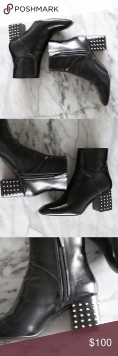 ZARA black ankle bootie with studs size 41 in EUC,  Make an offer. :) Zara Shoes Ankle Boots & Booties