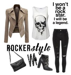 Rocker style!!! by joziee on Polyvore featuring polyvore fashion style River Island ASOS Chanel clothing rockerchic rockerstyle