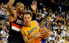 The Lakers try to continue their inspired play tonight against the Portland Trailblazers.
