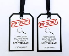 ★ INSTANT DOWNLOAD ★ Spy Party Printables, Invitations & Decorations with secret password! Personalize your Secret Agent Birthday Party printables at home