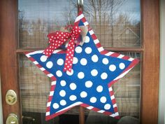 Patriotic Star Memorial Day / Fourth of July  by PaintMeASmile, $30.00