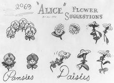 Alice in Wonderland Concept Art by Mary Blair: Flower Garden