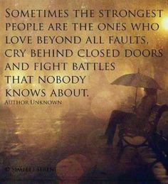 I know some people who have this kind of strength.