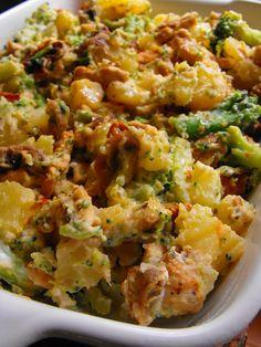 As receitas lá de casa: Salada de batata com peru