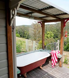 Would love to have an outdoor bathroom/shower.
