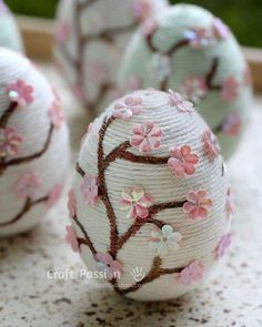 Embrace the spring season with these gorgeous cherry blossom Easter eggs by Craft Passion. These little works of art will easily brighten up your home just in time for the holiday. # easter crafts for adults 12 Next-Level Easter Egg Projects For Adults Easter Crafts For Adults, Adult Crafts, Kids Crafts, Arts And Crafts, Easter Egg Crafts, Bunny Crafts, Flower Crafts, Craft Ideas For Adults, Easter Dyi