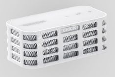 The BRICK - Ultra Portable Mini Wireless Stereo Bluetooth Speakers for All Devices with Bluetooth Capability - 10 hours Playtime (rechargeable battery) / with Built-in Mic for use as a Powerful Handsfree Speakerphone (White)