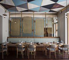 Interior Designers Sydney, Bar Interior Design, Commercial Interior Design, Interior Design Inspiration, Furniture Inspiration, Restaurant Design, Restaurant Bar, Luxury Restaurant, Restaurant Lighting