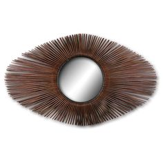 Palecek Rattan Sunburst Oval Mirror PK-1538-83 $743.60