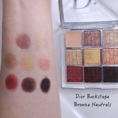 NEW Dior Backstage Eye Palette 006 Bronze Neutrals | Lenallure Neutral Eyes, Neutral Palette, Neutral Colors, Eyeshadow Primer, Eyeshadow Palette, Glam Makeup Look, Makeup Looks, Dior, Eye Palettes