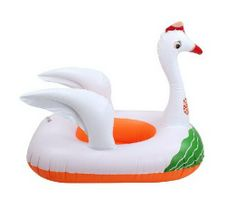 White Swan Ride-On Pool Toys for Kids Inflatable Floats
