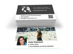 A sample of a business card design that we created for Emily Volpintesta.