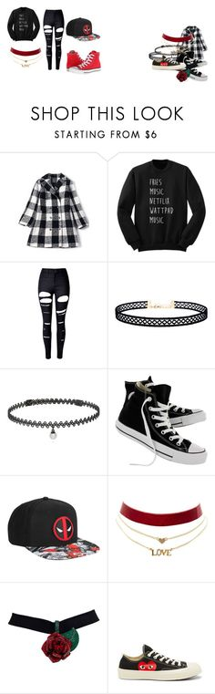 """Teenage Girl"" by qveenpilot on Polyvore featuring WithChic, LULUS, BERRICLE, Converse, Marvel and Charlotte Russe"