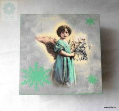 Karácsonyi angyalkás doboz