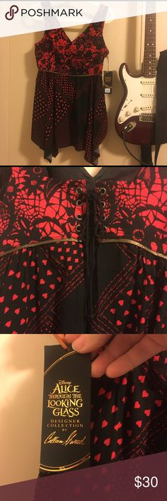 Alice through the Looking Glass red & black Tunic NWT!!!! Alice through the Looking Glass Tunic - red and black Tops Tunics
