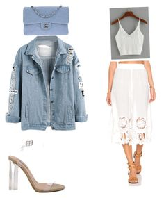 """Sans titre #43"" by mathis-weks on Polyvore featuring mode, Chanel, MINKPINK et YEEZY Season 2"