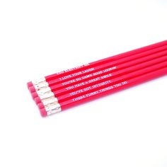 Reasons I Love You (Red) Pencil Set