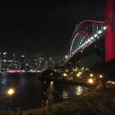 Harbour Bridge let up red tonight for Chinese New Year #chinesenewyear2016 #yearofthemonkey #sydneyharbourbridge by travelobsessed_jenek http://ift.tt/1NRMbNv