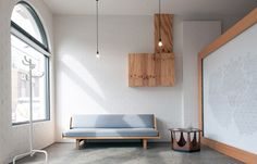 Naked Waiting Room : Retail Design. A nod to the days when hairdressers were considered barber surgeons, Melbourne, Australia-based salon Herr Blick uses Scandinavian-inspired minimalism to create intimate spaces for clients, starting with this stripped down reception area.  via habitus living  photo by Samara Clifford