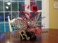 Centerpiece for 16th Birthday Party