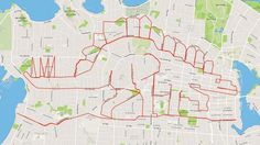 Biker creates magnificent GPS doodles http://ift.tt/214LpW9  Stephen Lund took the boredom-rite-of-passage doodling to a new level by evolving it into a sport  The visually-minded biker has been doodling with his two wheels since January 2015 developing intricate and striking designs with the use of a GPS. Stephen shares with Mashable that he uses an app called Strava to help him navigate his way through the streets of the City of Victoria Canada  See also: Watch this artist illustrate…