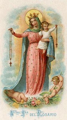 Spanish holy card