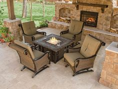 Outdoor Furniture With Fire Pit Table