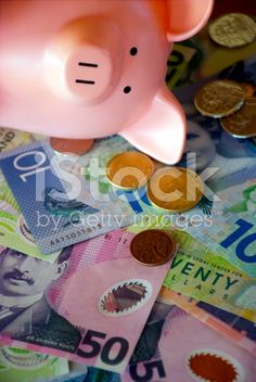 New Zealand Money (NZD); Dollars & Coins with a Piggy Bank royalty-free stock photo Dollar Coin, Image Now, Piggy Bank, New Zealand, Coins, Royalty Free Stock Photos, Money, Money Box, Rooms