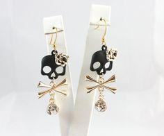 Charming Dangle Skull Earrings  Christmas Gift Idea