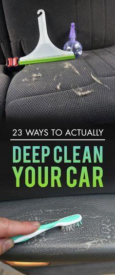 23 Ways To Make Your Car Cleaner Than It's Ever Been 23 Tips ein Auto zu reinigen Car Cleaning Hacks, Car Hacks, Diy Cleaning Products, Cleaning Solutions, Cleaning Supplies, Hacks Diy, Diy Interior Car Cleaning, Detail Car Cleaning, Cleaning Tips Tricks