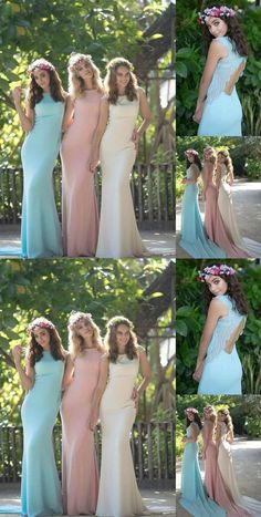 Unique Blue Slim Line Round Neck Backless Long Prom Dresses Satin Evening Dresses Inexpensive Bridesmaid Dresses, Affordable Prom Dresses, Cheap Prom Dresses, Cheap Wedding Dress, Homecoming Dresses, Girls Dresses, Wedding Dresses, Blue Dresses, Formal Dresses
